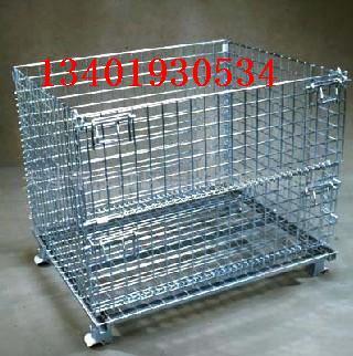 折叠式仓储笼,磁性材料卡,仓库笼,蝴蝶笼-13401930534